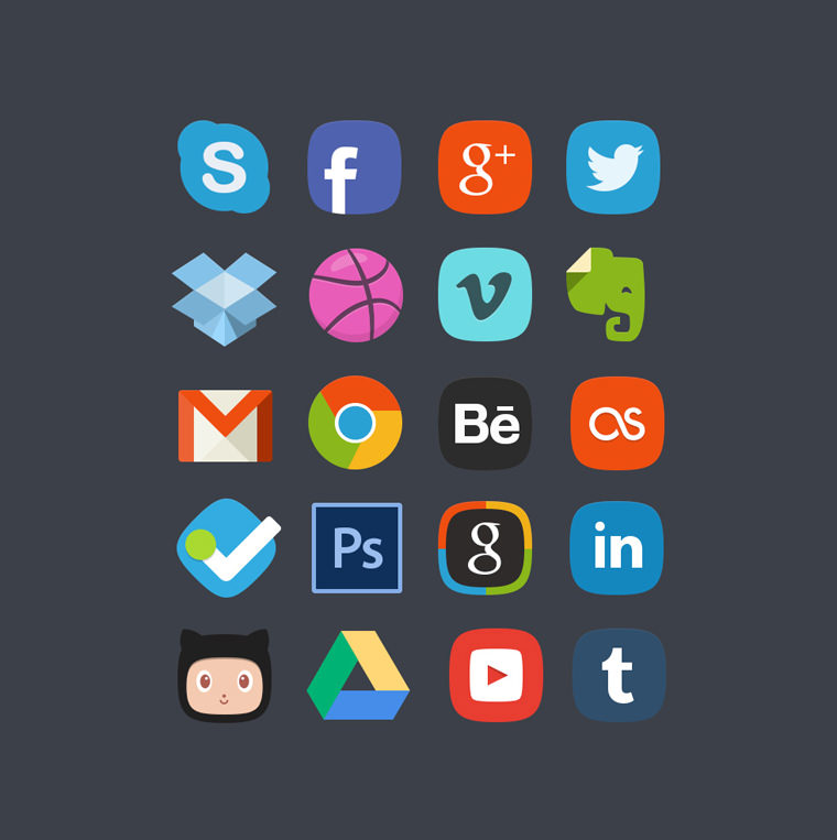 Social Media Buttons,Facebook Button,Skype Button,Twitter Button,Tumbler Button