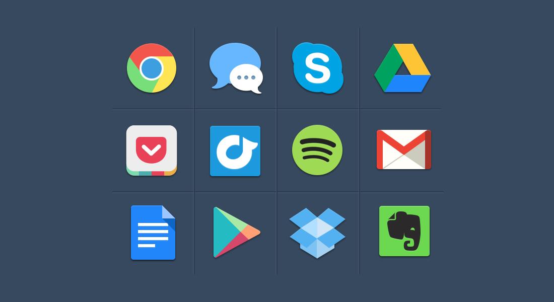 Social Media,Buttons,Flat Buttons