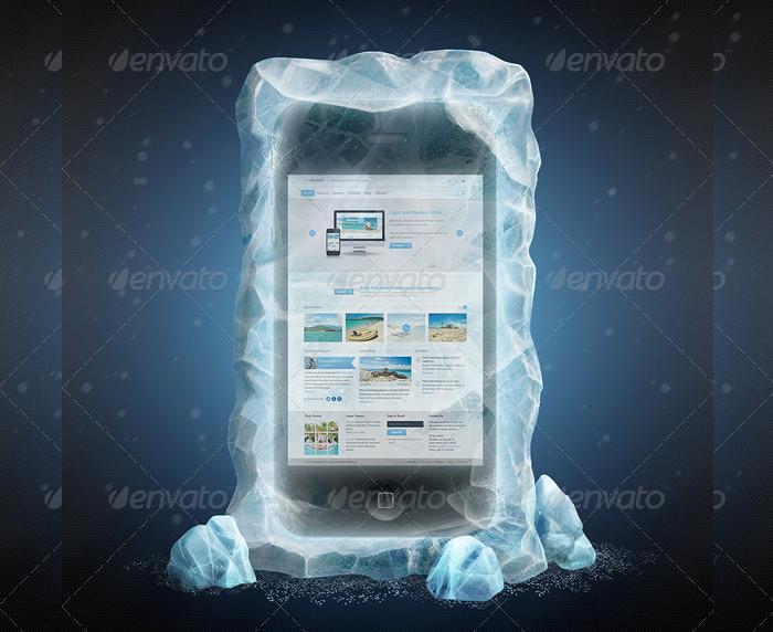 Frozen Smartphone Mockup Design