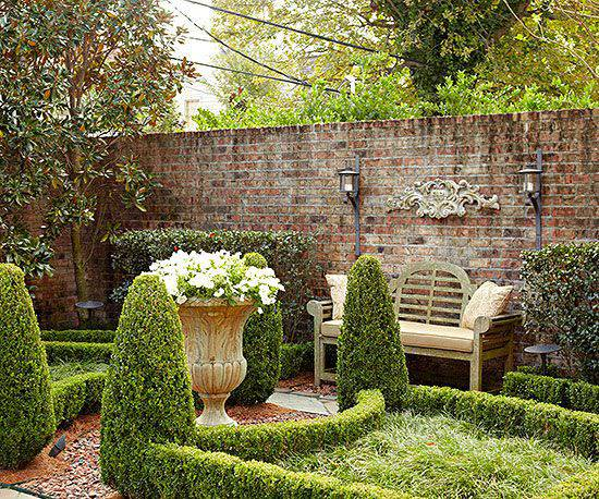 Perfect Garden Layout Of Brick Wall Garden Designs Decorating Ideas Design