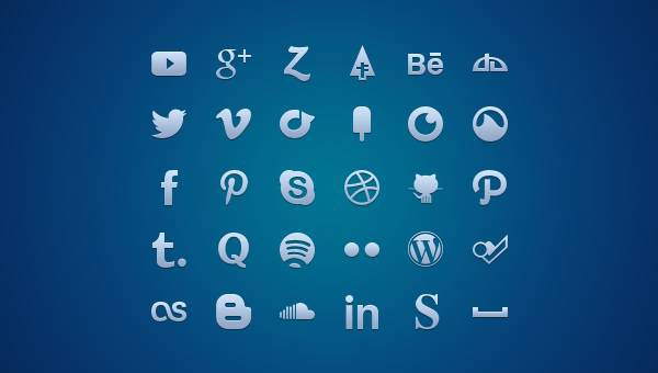 Blue,Social Media,Buttons,Facebook Buttons