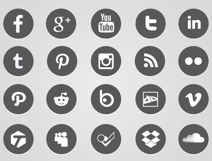 30+ Social Media Buttons | Buttons | Design Trends ...