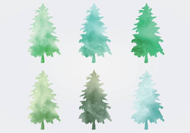 Watercolor Tree Vector