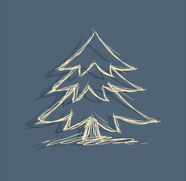 cool christmas tree vector