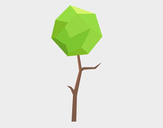 polygon tree vector
