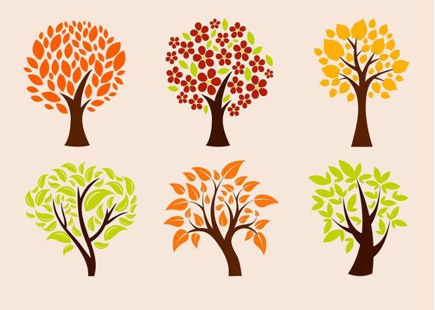 eco trees vector