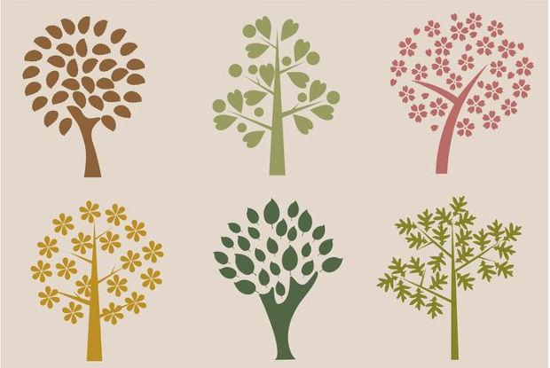 organic trees vector