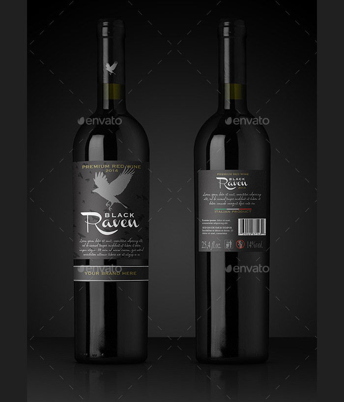 Photorealistic Black Bottle Mock-up