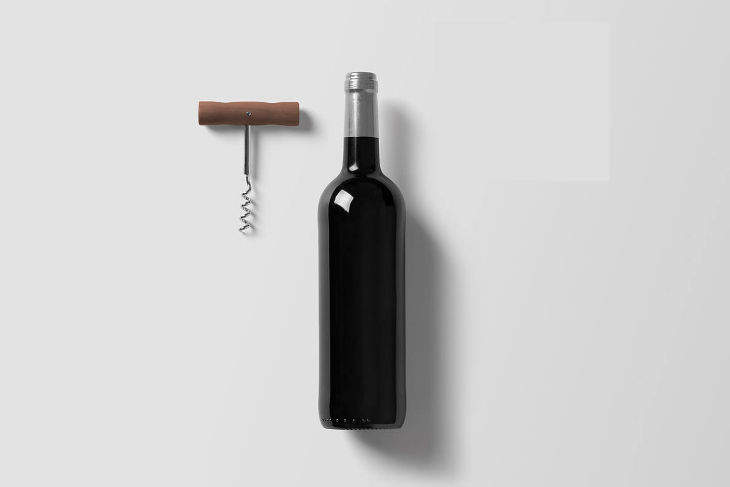simple bottle mock up