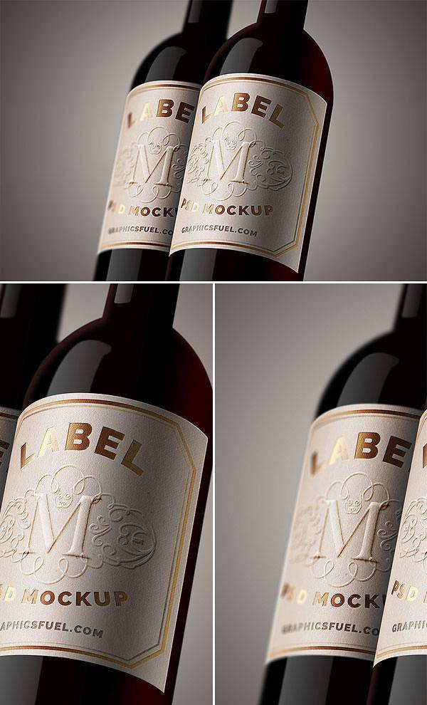 Bottle Label Mock-up PSD