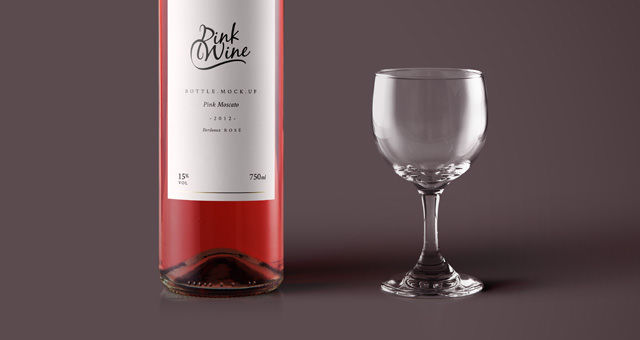 pink bottle mock up