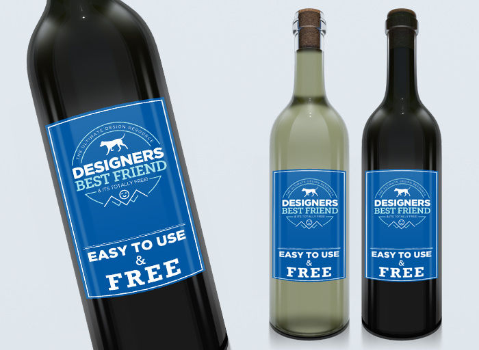 bottle label psd mock up template
