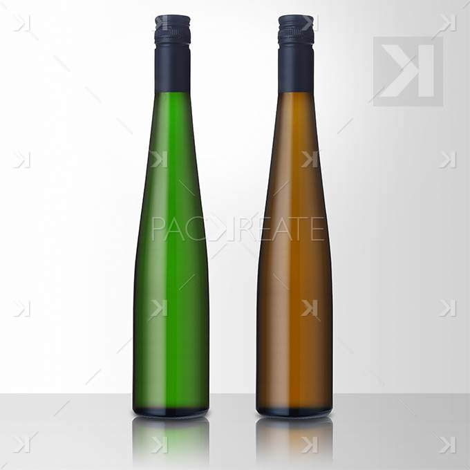 riesling isolated wine bottle mockup
