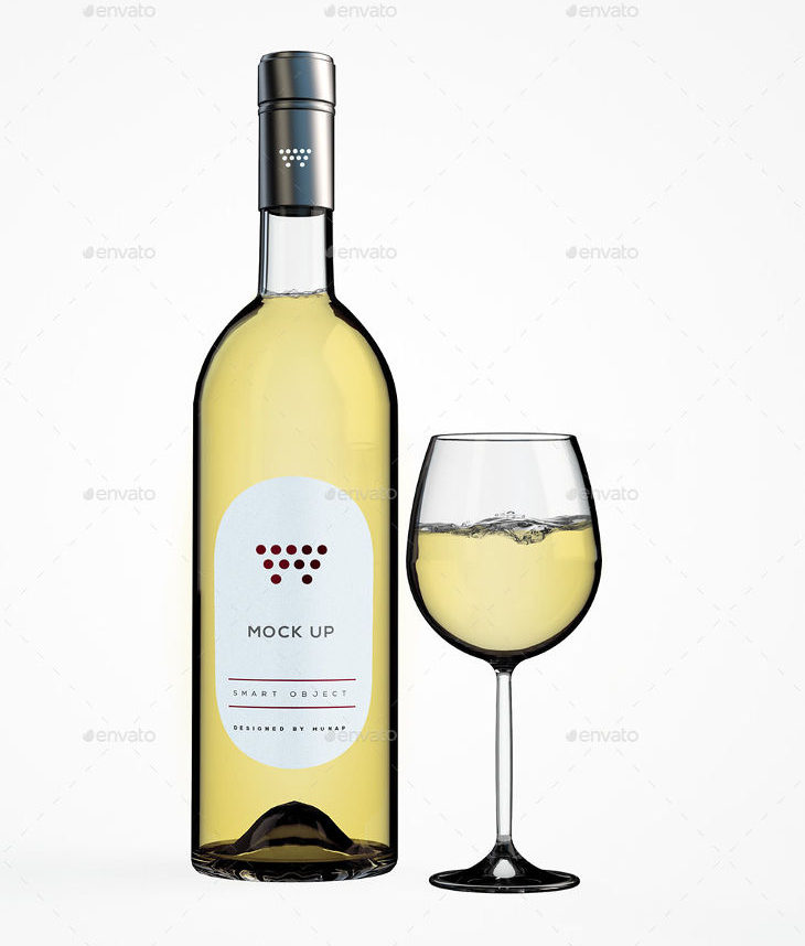 19  free wine bottle mockups psd