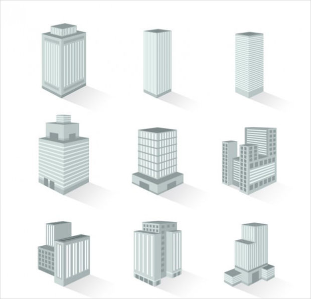 Variety of Buildings Vector