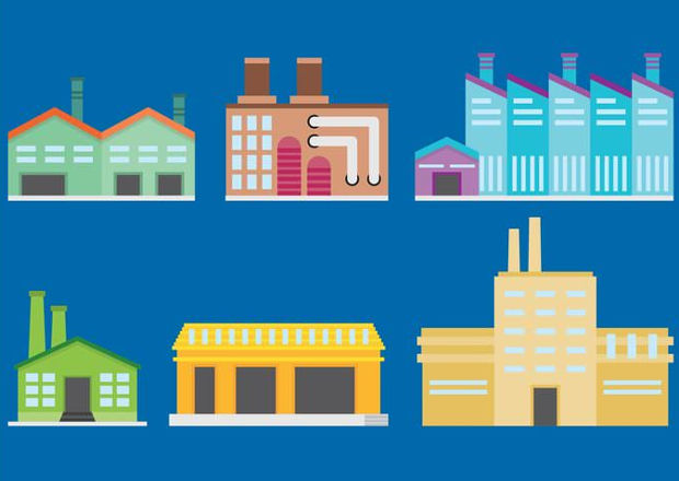 Factory Building Vector