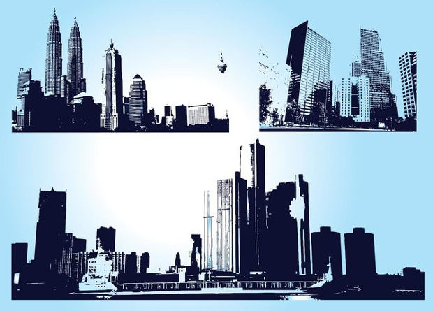 City Skyscrapers Vector