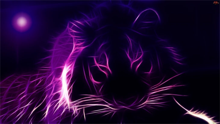 Purple Tiger Background