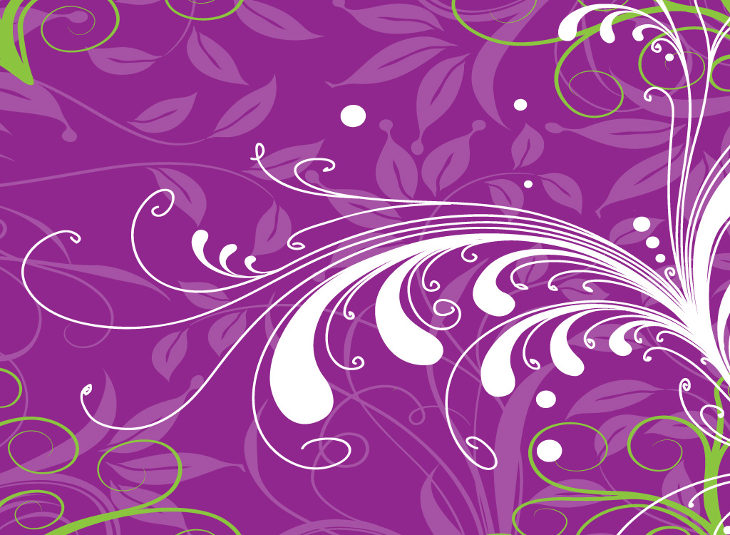 purple-floral-vector