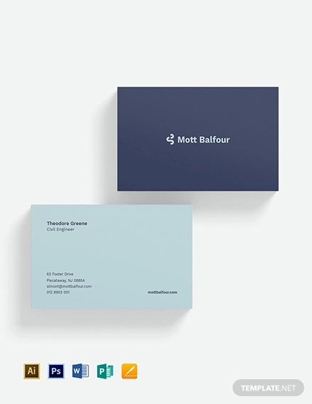 civil engineer business card
