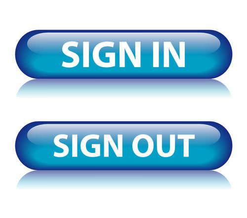Login Buttons,Logout Buttons,Blue,Sign In ,Sign Out