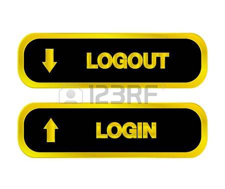 Login Buttons ,Logout Buttons,Arrow,Black,Gold