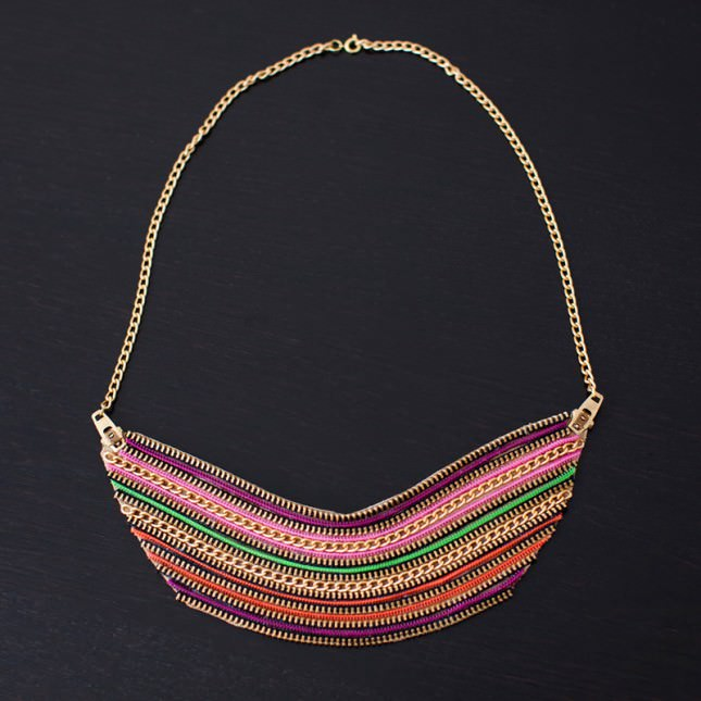 Diy Zipper Necklace Design