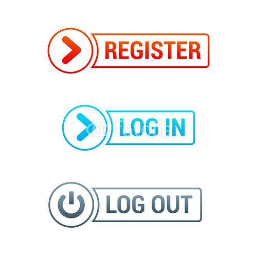 login and logout buttons9