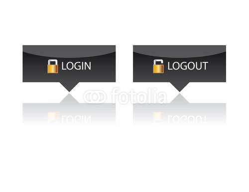 login and logout buttons12