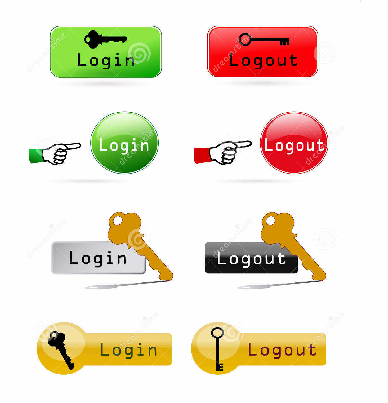 login and logout buttons13