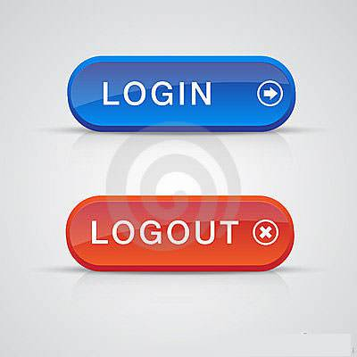 login and logout buttons19