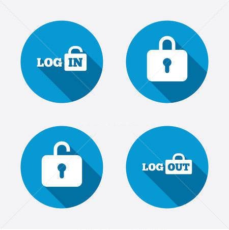 login and logout buttons26