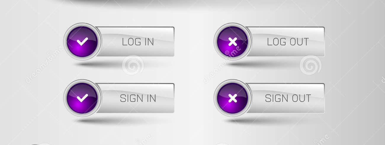 login and logout buttons33