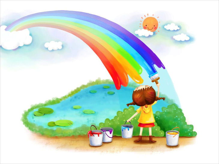 artwork rainbow background