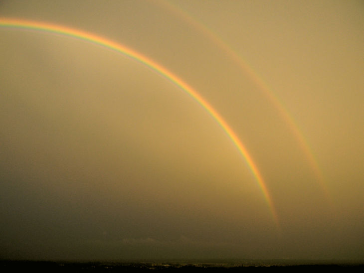 double rainbow background