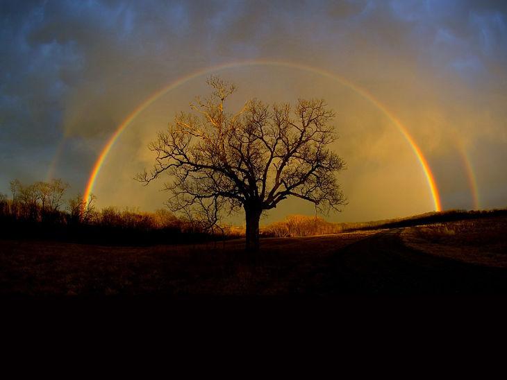 Dark Rainbow Background