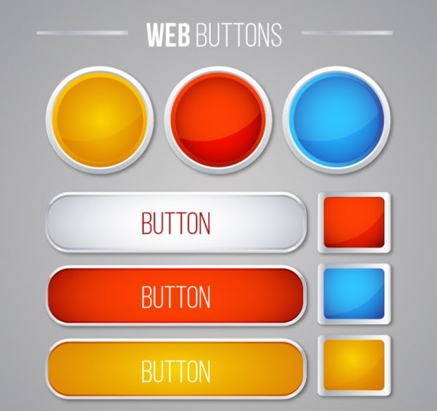Simple Web Buttons Vector