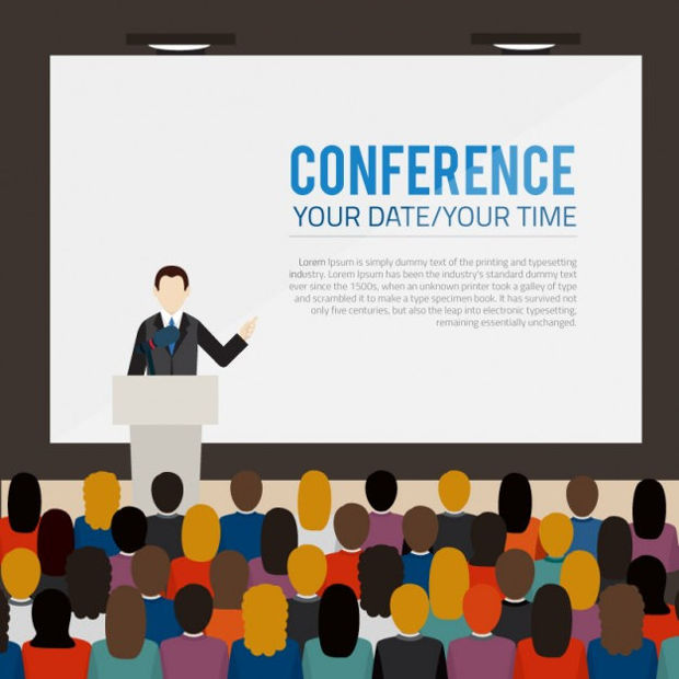 business conference banner vector
