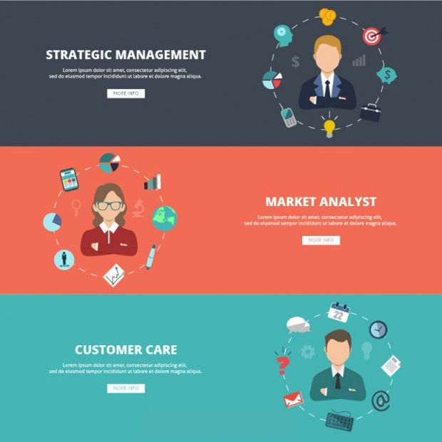 Business Website Banner Vector