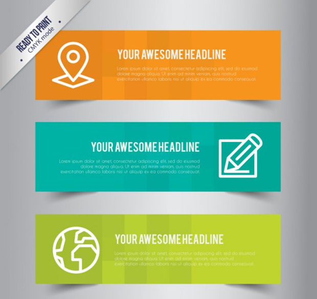 business banner template vector