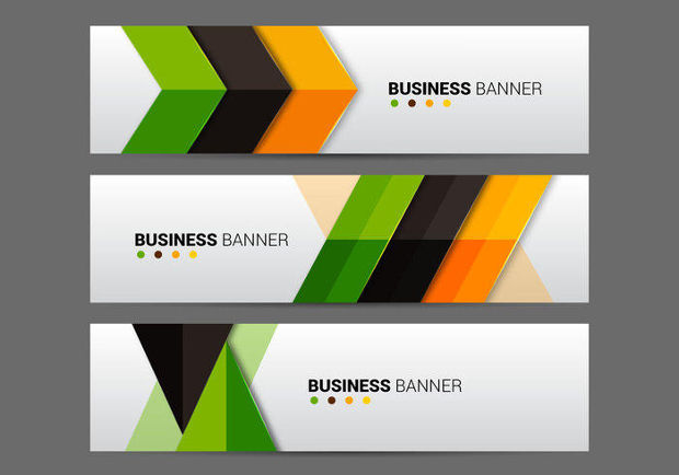 Abstract Business Banner Vector