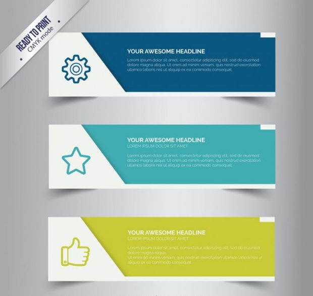 simple business banner vector