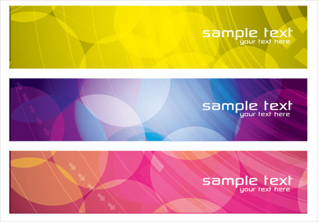 Colorful Business Banner Vector