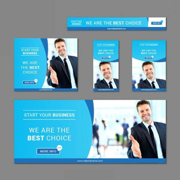 business banner collection vector