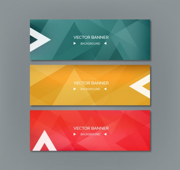 Abstract Colored Banner Vector