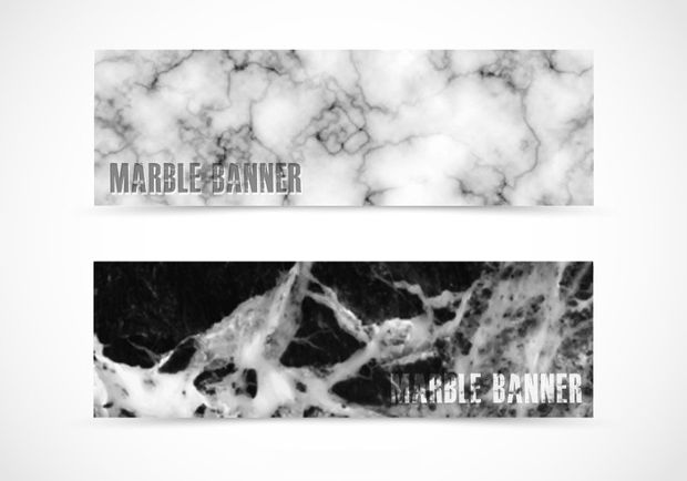 Abstract Marble Banner Vector