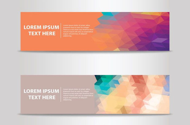 Cool Abstract Banner Vector