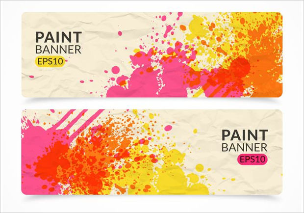 Abstract Paint Banner Vector