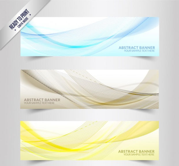 Abstract Wavy Banner Vector