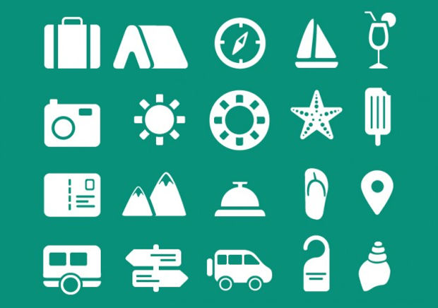 Travel Icon Vector Set